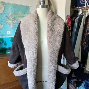 Faux Suede & Fur Crop coat by Jolt